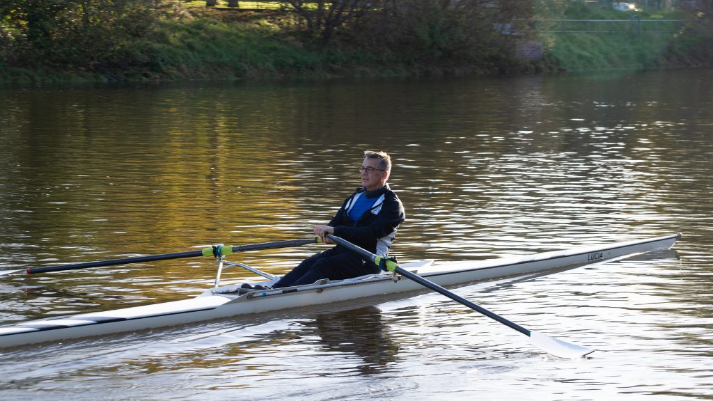 Sculler on the Lagan